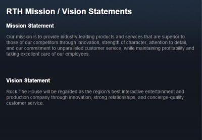 rth mission statement