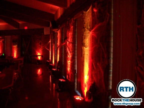 Halloween party lighting Birthday Lighting Services Were Also Contributed For More Information On Birthday Party Djs Or Other Entertainment Services Check Out The Rock The House Website Rock The House Entertainment Cleveland Djs Host Sweet Sixteen Halloween Party Rock The House