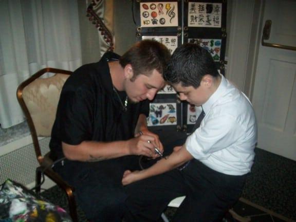 tattoo artist featured at bat mitzvah