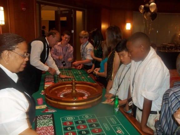 casino games at las vegas themed bar mitzvah