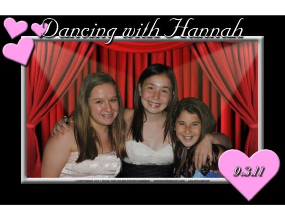 dance themed green screen photo booth