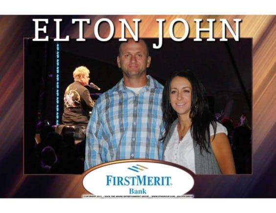 greens screen photo booth at elton john concert