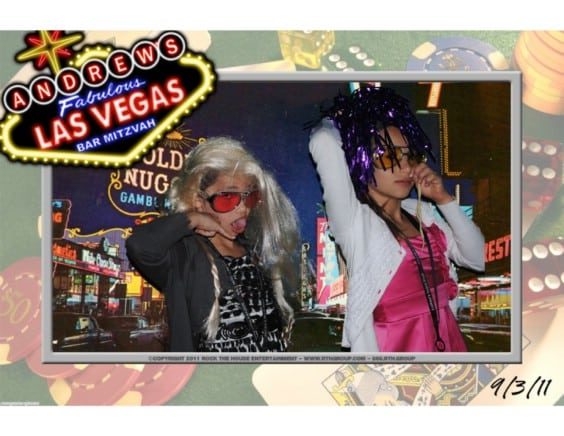 las vegas themed green screen photo booth