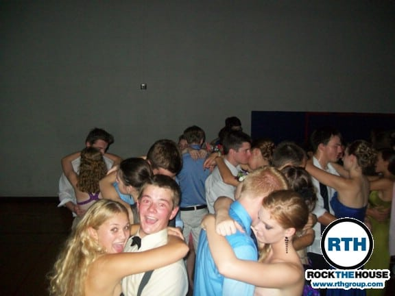 students dancing together at homecoming