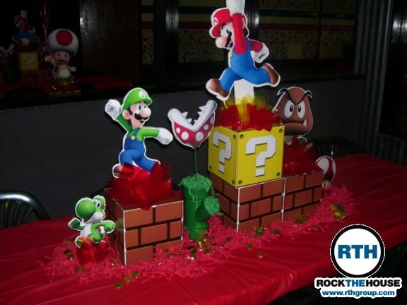 super mario brothers themed bar mitzvah