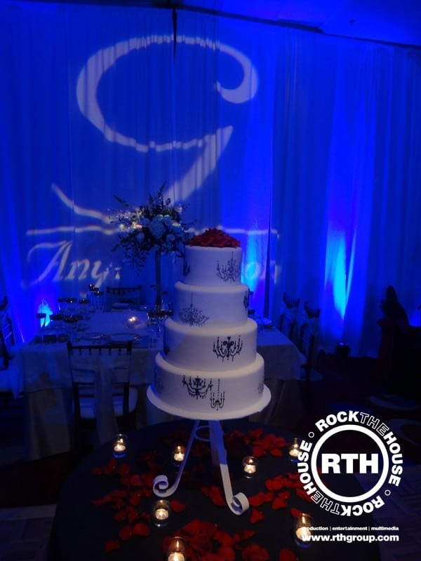 drapery cake decor