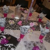 Table setting custom dance pink