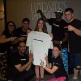 lindsay got rocked pajama themed party