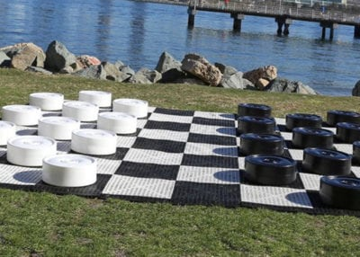 Rock The House, Giant Games & Yard Games - Giant Checkers