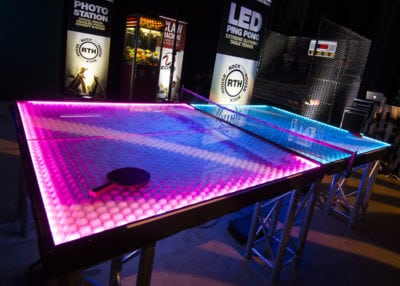 Rock The House, Giant Games & Yard Games - LED Ping Pong