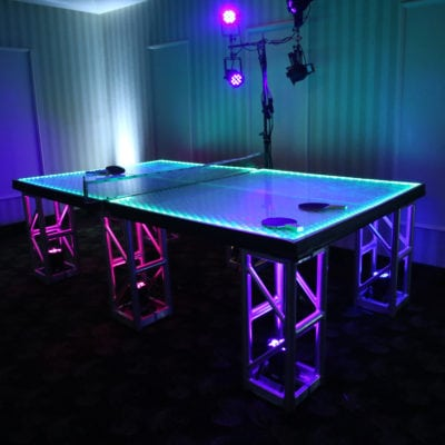 HOLIDAY PARTY ENTERTAINMENT - GIANT GAMES, LED PING PONG