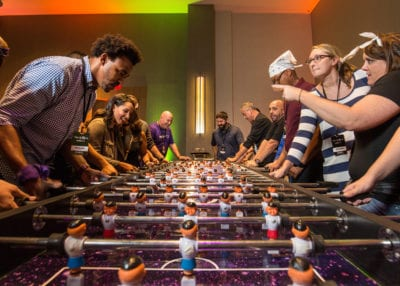 ROCK THE HOUSE - COMPANY PARTY GAMES, GIANT FOOSBALL