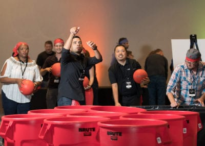 ROCK THE HOUSE - COMPANY PARTY GAMES, RED CUP SHOOT OUT