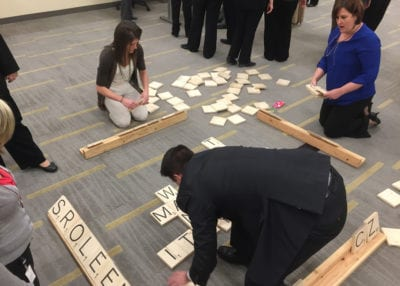 ROCK THE HOUSE - COMPANY PARTY GAMES, GIANT SCRABBLE