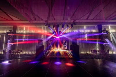Cleveland wedding lighting rock the house
