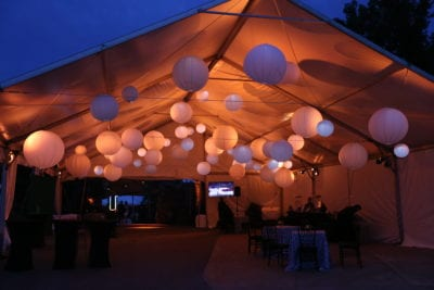 CLEVELAND WEDDING LIGHTING - PAPER LANTERNS