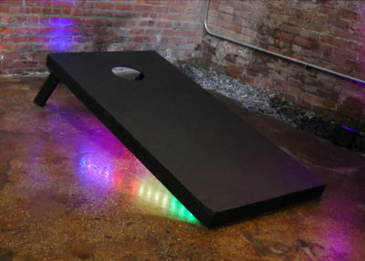 ROCK THE HOUSE - COMPANY PARTY GAMES, GIANT LED CORNHOLE