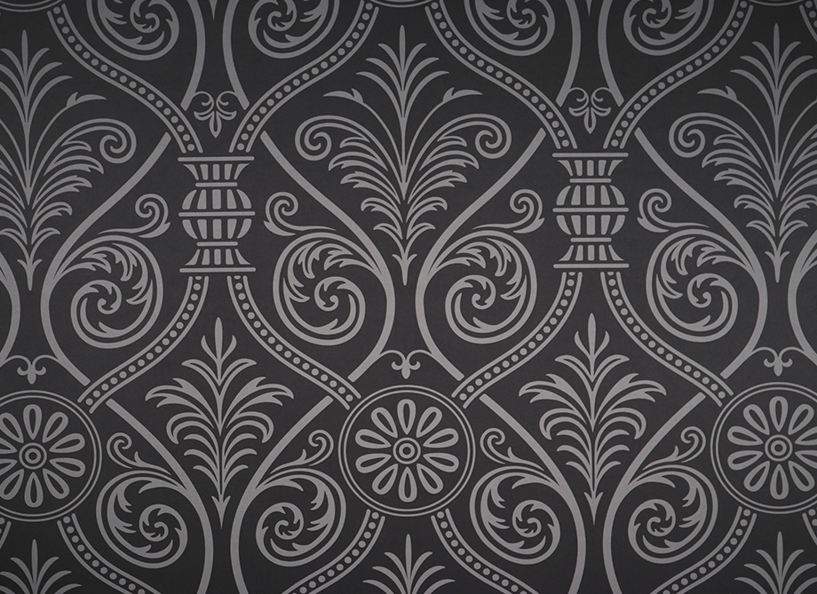 RTH Photo Booth Backdrops - Black Damask