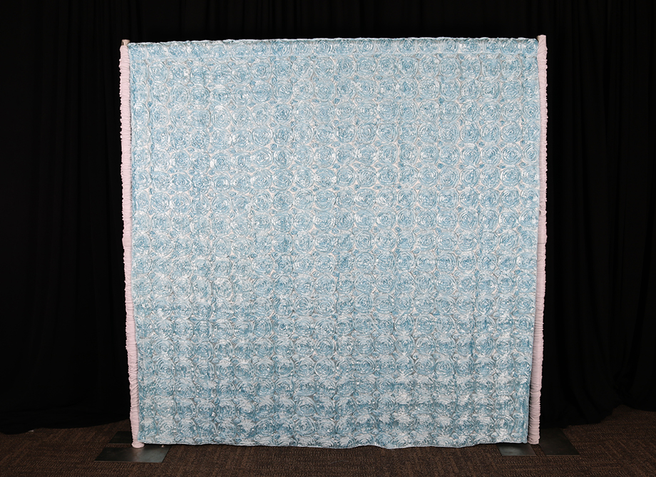 RTH Photo Booth Backdrops - Blue Rosette