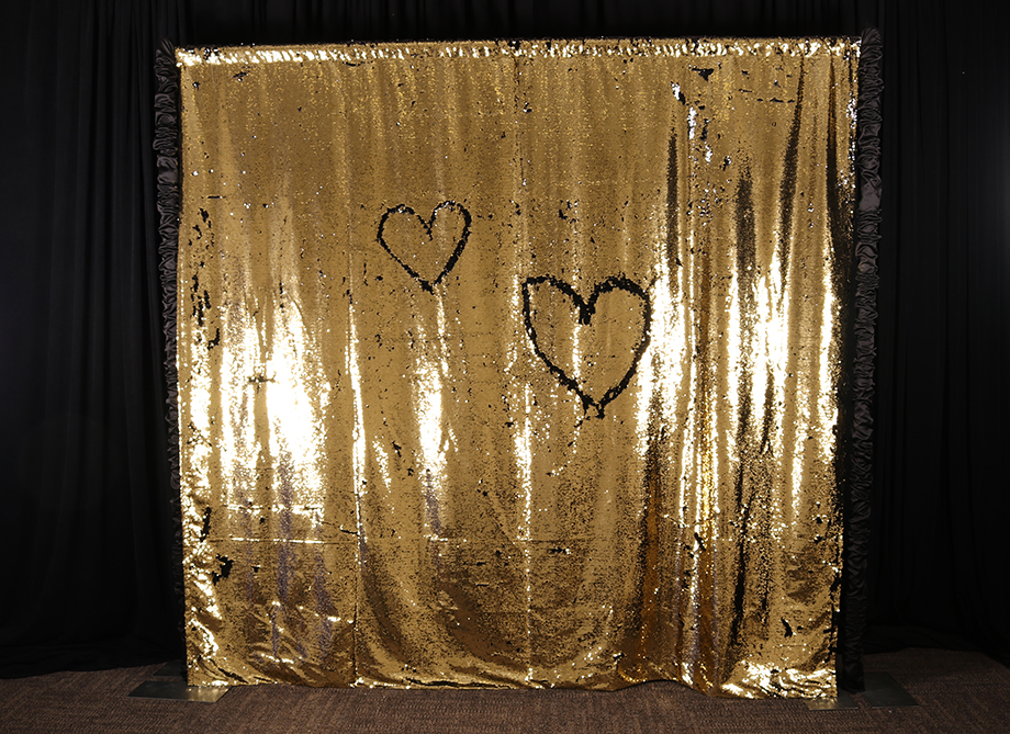 RTH Photo Booth Backdrops - Gold/Black Mermaid Backdrop