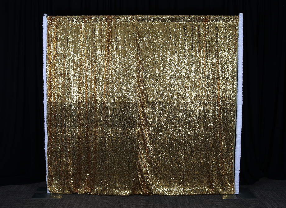 RTH Photo Booth Backdrops - Gold Sequin Curtain