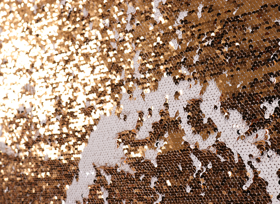 RTH Photo Booth Backdrops - Gold/White Mermaid