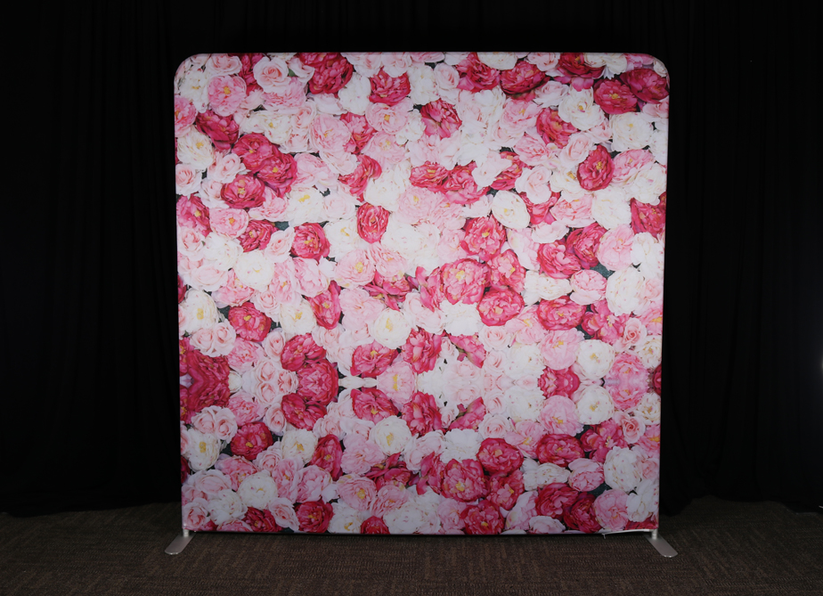 RTH Photo Booth Backdrops - Pink Flowers