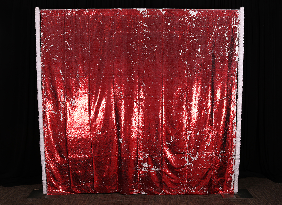 RTH Photo Booth Backdrops - Red/White Mermaid Backdrop