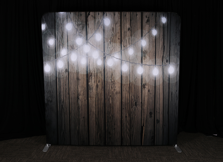 RTH Photo Booth Backdrops - Cafe Lights